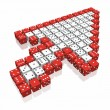 Dice cursor — Stock Photo #1600919