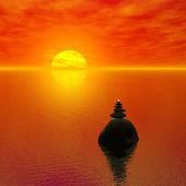 Zen-liknande solnedgång — 图库照片