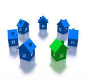 Verschillende huis — Stockfoto