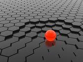 červené koule — Stock fotografie