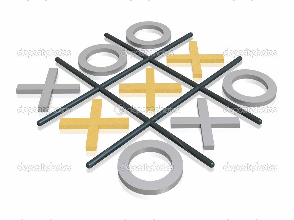 3D render noughts and crosses — Stock Photo #1600459