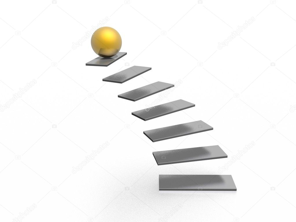 On top of staircase (high resolution 3D image) — Stock Photo #1600593