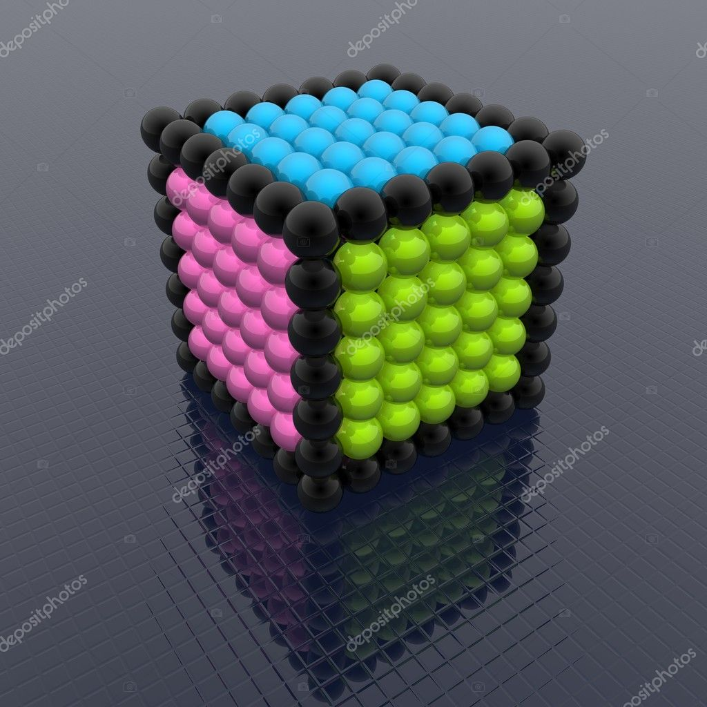 Cube of spheres — Stock Photo #1600718