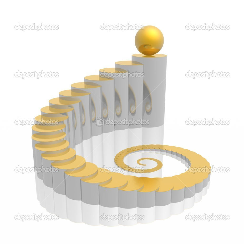 Abstract 3d symbol (gold-silver series) — Stock Photo #1601087