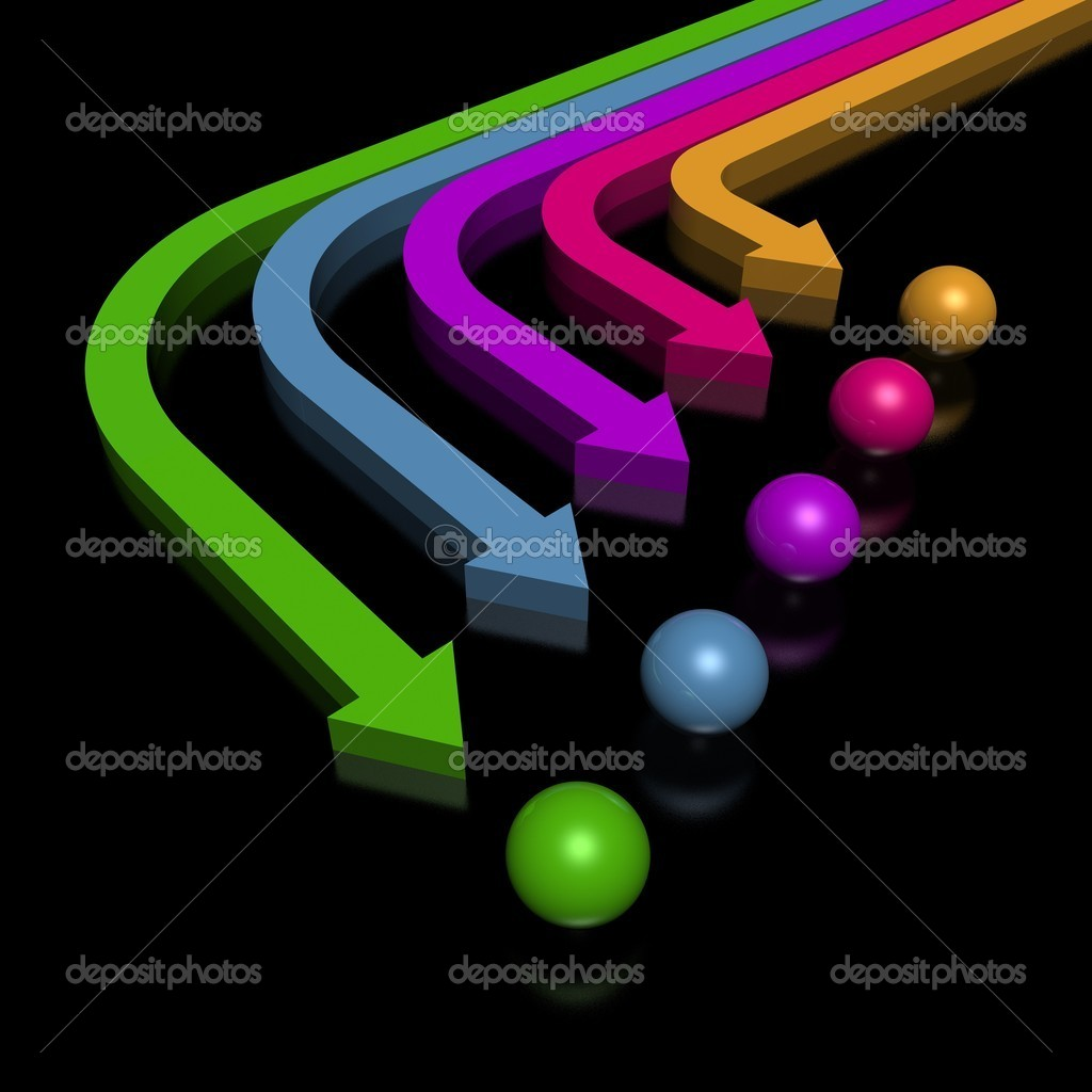 3D colorful arrows (high resolution) — Stock Photo #1601499
