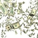 Money on white — Stock Photo