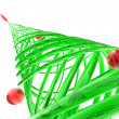Stock Photo: Rendered stylized Christmas pine tree