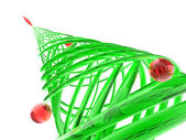 Rendered stylized Christmas pine tree — Stock Photo