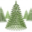 Christmas tree fastener - Stock Photo
