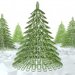 Foto Stock: Christmas tree fastener