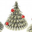 Christmas dollars — Stock Photo