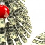 Christmas dollars — Stock Photo