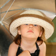 Small girl with umbrella — Stock Photo #1564034