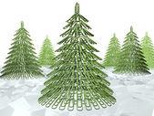 Noel ağacı zımba — Stok fotoğraf