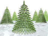 Christmas tree fastener — Stock Photo