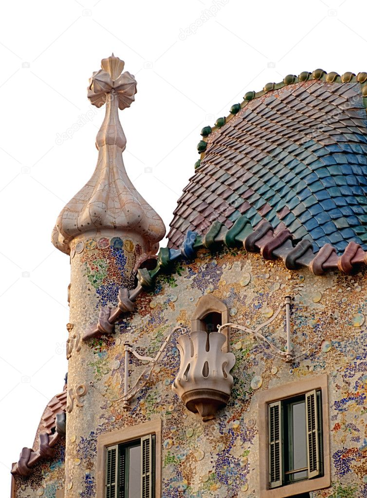Details of the famous builduing constructed by Antonio Gaudi — Stock Photo #1881656