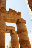 Ornament on columns of Karnak temple. — Stock Photo