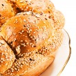 Macedonian bread with sesame seeds — Stock Photo