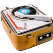 Retro portable turntable — Stock Photo