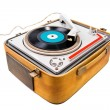 Retro portable turntable - Stock Photo