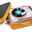 Retro portable turntable — Stockfoto