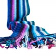 Striped multicolored woolen scarf - Stock Photo
