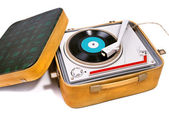 Retro portable turntable — ストック写真