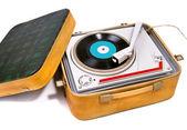 Tourne-disque portable rétro — Photo