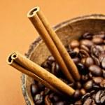 Coffee and cinnamon sticks — Stock Photo #1864223