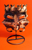 A scary mask candle holder — Stock Photo
