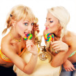 Two attractive blondes hanging out — Stock Photo #2103006