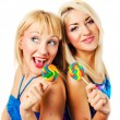 Two attractive blonde models posing — Stock Photo #2216954