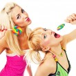 Two attractive blonde models posing — Stock Photo #2217006
