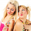 Two attractive blonde models posing — Stock Photo #2217027