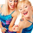 Two attractive blonde models posing — Stock Photo #2217051