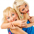 Two attractive blonde models posing — Stock Photo #2217089