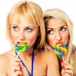Two attractive blonde models posing — Stock Photo #2217109