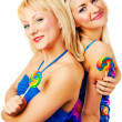Two attractive blonde models posing — Stock Photo #2217110
