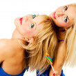 Two attractive blonde models posing — Stock Photo #2217126