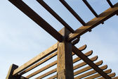 Wooden pergola — Stock Photo