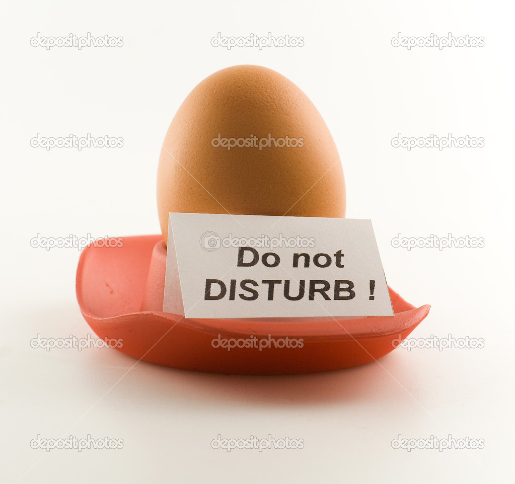Egg with signboard  — Stock Photo #1559399
