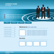 Royalty-Free Stock Imagen vectorial: Website business template