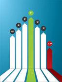 Graph finance — Stockvektor