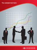In business — Stock Vector