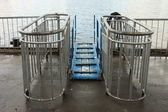 Gangway on a ship mooring site — Stock Photo