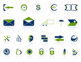 Complete set of icons. — Stock Vector
