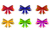Varicoloured bows. — Stock Vector