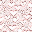 Hearts background - Foto Stock