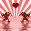 Valentines cupids — Stock Photo