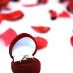 förlovningsring — Stockfoto